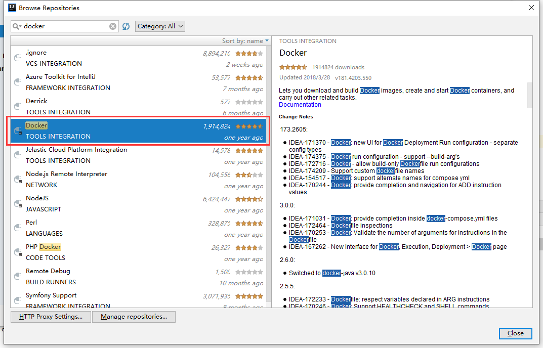 IDEA安装Docker插件
